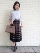 「【BAILA11月号掲載】アンゴラMIXヘアリーKNIT735012(Andemiu)」 using this Andemiu 東京ドームシティラクーア店|yuka.N looks