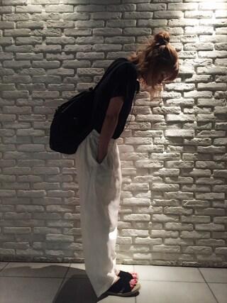 岡田ロビン翔子さんの「綿麻ルーズビックパンツ【niko and...】(niko and...|ニコアンド)」を使ったコーディネート