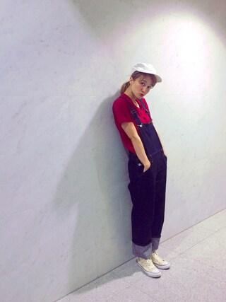 岡田ロビン翔子さんの「DENIMオーバーオール/711586(JEANASIS|ジーナシス)」を使ったコーディネート