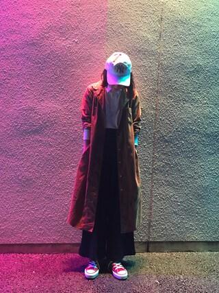 岡田ロビン翔子さんの「【CONVERSE/コンバース】CANVASALLSTARHI(CONVERSE|コンバース)」を使ったコーディネート