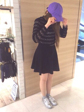 靴下屋 西武新宿ペぺ店|mymyさんの(GU|ジーユー)を使ったコーディネート