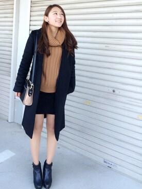 Mikakoさんの「オフタートル裾レイヤーシャツ/ニット-2015AW-(INGNI)」を使ったコーディネート