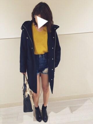Mikakoさんの「オーストラリアウールフードコート(JEANASIS|ジーナシス)」を使ったコーディネート