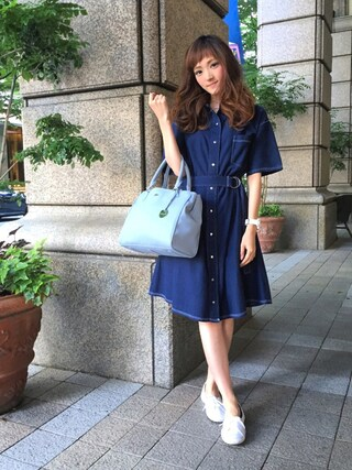 「トートバッグ(LACOSTE)」 using this LACOSTE 三宮店|SENA YASUEDA looks