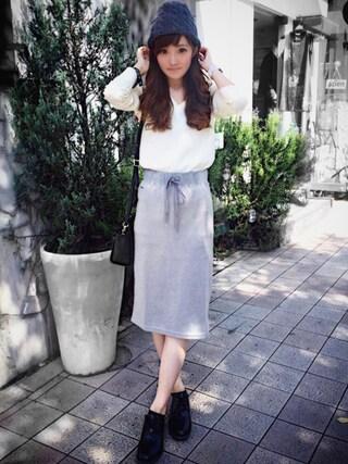 「ベーシックウールVネックニット (長袖)(LACOSTE)」 using this LACOSTE 三宮店 SENA YASUEDA looks