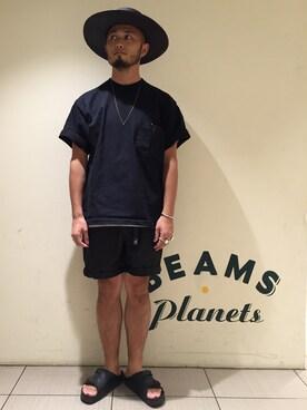ビームス プラネッツ 横浜 Yoshihito Hayashiさんの(BEAMS T ビームスティー)を使ったコーディネート