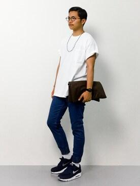Tシャツ×スキニーデニム×エアマックス1