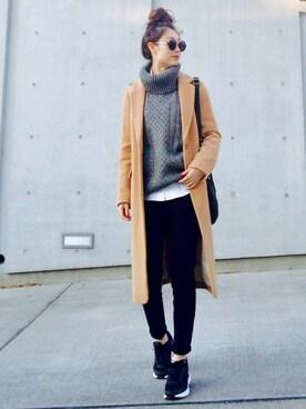 Creamさんの「【MORE 1月号掲載】【with 1月号掲載】【Ray 1月号掲載】ロングチェスターコート(PROPORTION BODY DRESSING|プロポーションボディドレッシング)」を使ったコーディネート