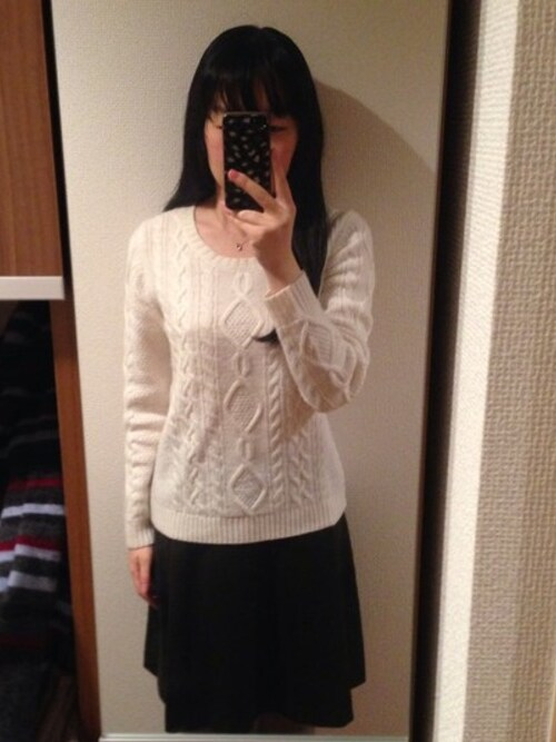 mochiさんの「無印良品 ホワイトニット( ...