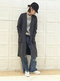 Kandaさんの「ダブルニットVネックコート#(JOURNAL STANDARD ジャーナルスタンダード)」を使ったコーディネート
