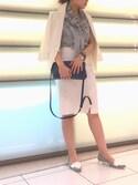 yumukiさんの「リネンストレッチタイトスカート(NARACAMICIE|ナラカミーチェ)」を使ったコーディネート