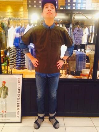 SIXTY ONE ARROW ミント神戸店|森山 卓哉さんの(KATO`|カトー)を使ったコーディネート