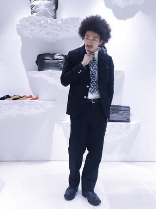 ユナイテッドアローズ 原宿本店 メンズ館|岡本 一宏さんの「THE STYLIST JAPAN(ザ スタイリスト ジャパン) H/S JKT BLK(The Stylist Japan|ザスタイリストジャパン)」を使ったコーディネート