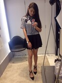 「Genie tie-front court shoes(Topshop)」 using this Joan Cheung looks