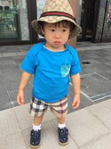 「Burberry 'Mini Scout' Check Shorts (Toddler Boys)(Burberry)」 using this SHO&RYU looks
