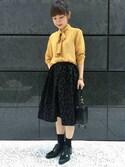 mioさんの「AULA AILA フロッキーレオパードスカート(AULA AILA|アウラ アイラ)」を使ったコーディネート