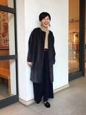 uenoさんの「<AKIRA NAKA(アキラ ナカ)>ニット ワイドパンツ(UNITED ARROWS|ユナイテッドアローズ)」を使ったコーディネート