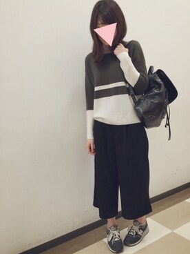 eriさんの「Balenciaga Classic Traveler Leather Backpack, Black(Balenciaga)」を使ったコーディネート