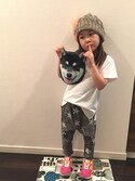 yu-riさんの「アニマルモチーフタオル cat&dog(ThreeFourTime スリーフォータイム)」を使ったコーディネート