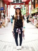 「Liberty Layer Necklace(Urban Outfitters)」 using this maroHaru looks