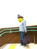 awaawaさんの「シーチング横長バッグ(LuncH|ランチ)」を使ったコーディネート