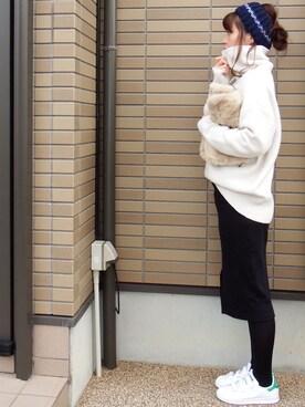 miho🅰ニコさんの「スポンディッシュタートル【niko and...】(niko and...|ニコアンド)」を使ったコーディネート