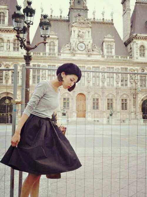 このボリューム感が私のどツボ たまりませんッ ファッションの聖地パリでも可愛いって褒められたよ