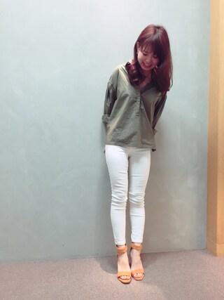 RANDA 本社|nakamura sayakaさんの「オーバールーズシャツ(RANDA|ランダ)」を使ったコーディネート