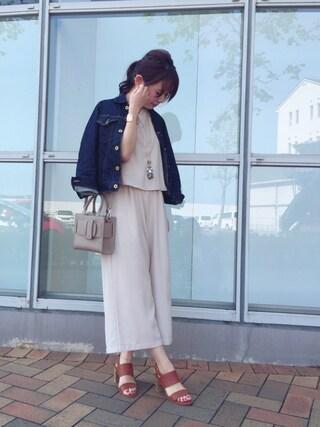 RANDA 本社|nakamura sayakaさんの「CAMILLE BIS RANDA/ワイドストラップサンダル(RANDA|ランダ)」を使ったコーディネート