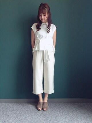 RANDA 本社|nakamura sayakaさんの「リボンプルオーバー(RANDA|ランダ)」を使ったコーディネート