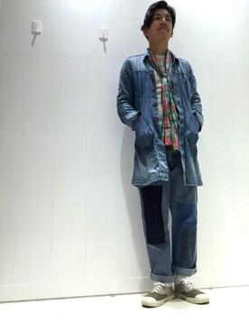 ゆぐさんの(Engineered Garments|エンジニアードガーメンツ)を使ったコーディネート