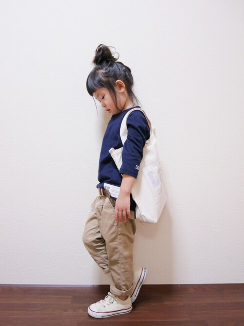 【Right-on公認】花音さんのトートバッグ「【Lee】2WAYキャンバストート(Lee|リー)」を使ったコーディネート
