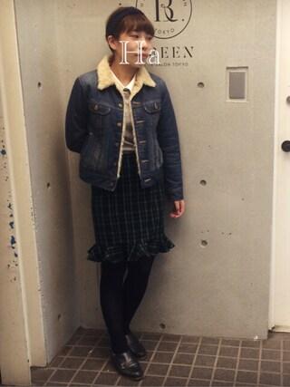 Hatsumiさんの「Lee:STORM RIDER ボアジャケット デニム◇(SHIPS for women|シップスフォーウィメン)」を使ったコーディネート