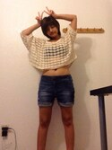 「FOREVER 21 Twist-Front Multi-Wear Bikini Top(Forever 21)」 using this マミ looks