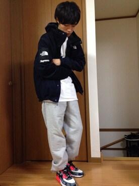 平太郎│THE NORTH FACEのマウンテンパーカーコーディネート