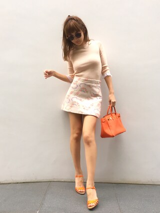 紗栄子さんの「フロントメタルサングラス(snidel|スナイデル)」を使ったコーディネート