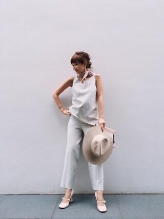 紗栄子さんの「styling / Miranoribu Pants(styling /|スタイリング)」を使ったコーディネート
