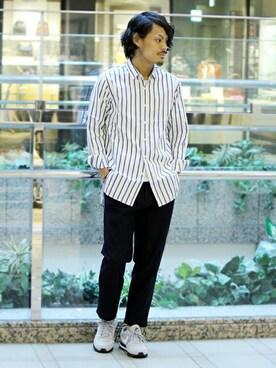 ivory courtランドマークプラザ店|hoshinoさんの「レギュラーカラーロングシャツ◆(ivory court)」を使ったコーディネート