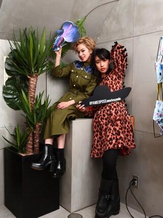 Unaさんの「RODEO CLUB ワンピース(Aymmy in the batty girls エイミー インザ バッティー ガール)」を使ったコーディネート