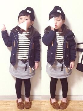 cyamu(͒⑅′࿉‵⑅)͒ෆ*│無印良品のTシャツ・カットソーコーディネート