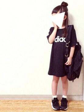 cyamu(͒⑅′࿉‵⑅)͒ෆ*さんの(adidas|アディダス)を使ったコーディネート