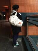 MAKEARTYOURZOOさんの「バスケットトート Mサイズ Flying Croc (Cream/White)(GASIUS|ガシアス)」を使ったコーディネート
