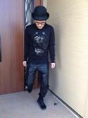「Men's Vans® Old Skool sneakers in black(Vans)」 using this ひろし looks