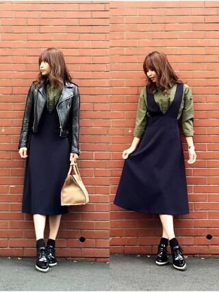 「レザーライダースジャケット(TODAYFUL)」 using this STYLE DELI|Emi Kinjo looks