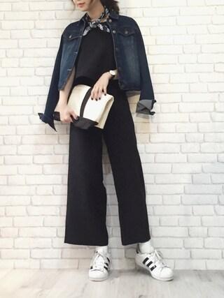 「ADIDAS アディダス SUPERSTAR FOUNDATION スーパースター  C77124 WHT/CBK/WHT(adidas)」 using this STYLE DELI|Emi Kinjo looks