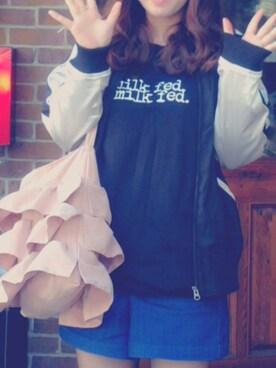 かわいい女の子になる👑さんの(MILKFED.|ミルクフェド)を使ったコーディネート