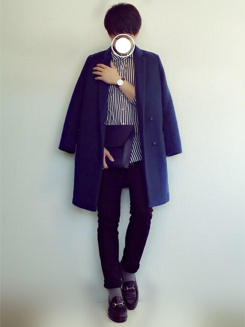 Takeさんの「Tomorrowland Striped Cotton Shirt(TOMORROWLAND)」を使ったコーディネート