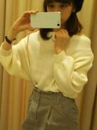 「リブパフスリーブニット(natural couture)」 using this natural couture むさし村山イオンモール店|Ayaka looks