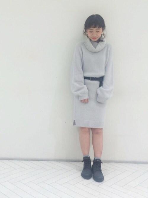 hikaru suzukiさんの「オフタートルワンピース(Kastane)」を使ったコーディネート