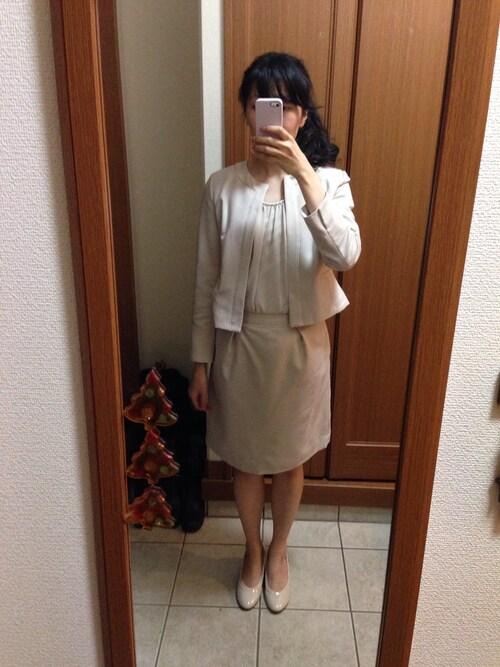ママ スーツスタイル コーデ 30代